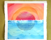 Contemporary Ketubah - Sunset over Water