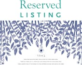 Reserved listing for Mari...