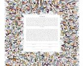 Contemporary Modern Ketubah - Abstract #2