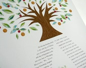 Contemporary Ketubah - Dancing Tree of Life