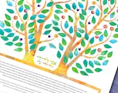 Ketubah Intertwined - Guestbook - Vows - Quaker