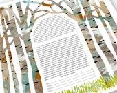 Ketubah - Summer, Fall Birch Chuppah