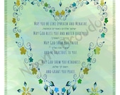 Print at home Digital Download- Baby Boy blessing, Heart