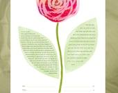 Ketubah - Red Rose