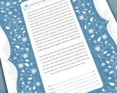 Ketubah - Love and Flowers in Blue and White