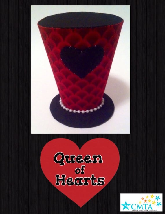 Black And Red Queen Of Hearts Mini Top Hat Portion Of Sale Etsy