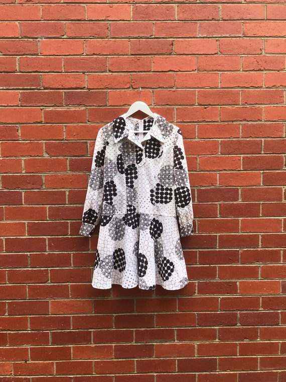 Safeena Vintage Upcycled 70s Geometric Mini Shirt