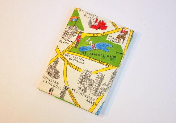 London Town Map.Passport Cover Passport Holder Sleeve London Town Map Westminster Abbey St James Palace Hyde Park