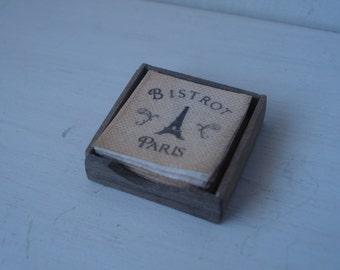 Dollshouse miniature napkins box - miniature kitchen - dollhouse table  - miniature 1:12th scale one inch