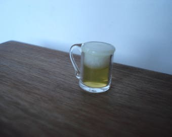 Miniature beer glass, dollshouse beer, miniature food, dollshouse pub, dollshouse drink