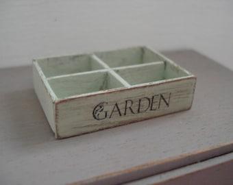 Dollshouse Miniature crate, Dollshouse box, miniature garden, One inch 1:12 scale, miniature box