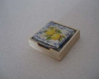 Dollshouse miniature napkins, miniature kitchen, Dollshouse kitchen , miniature table, One inch scale