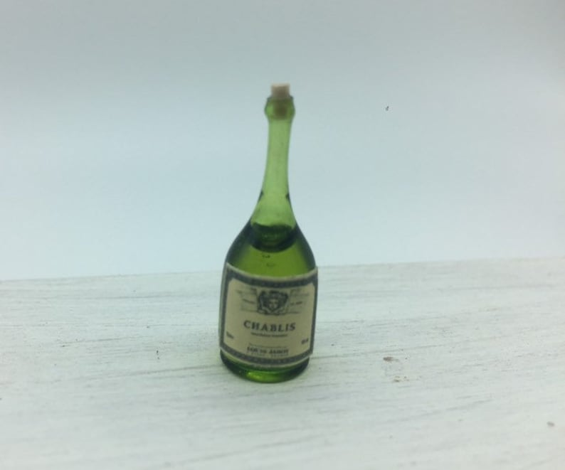 Dollhouse Miniature Wine Bottles Champagne Bottles with Glasses 1//12 Scale
