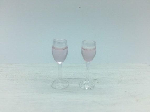 Casa Delle Bambole Miniatura Fatto a Mano Blu Bicchiere Bottiglia