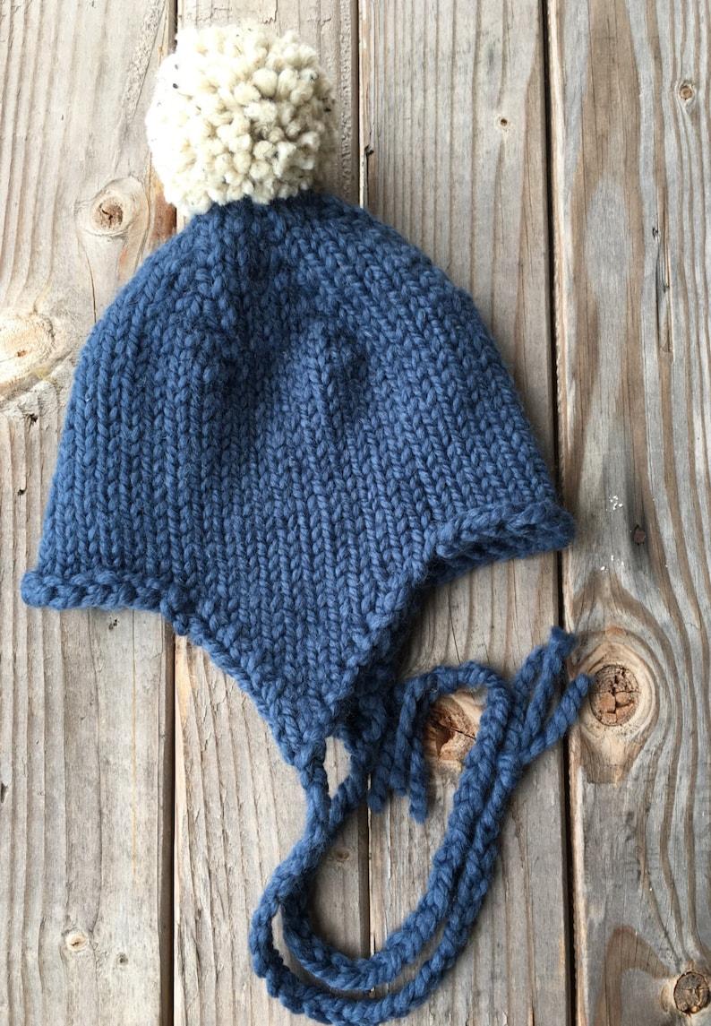 eedb7a6a4ea PATTERN Kids Earflap Hat Knitting Pattern Chunky Hat Craft