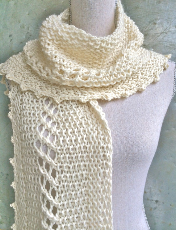 Pattern Textured Scarf Knitting Pattern Craft Party Diy Christmas