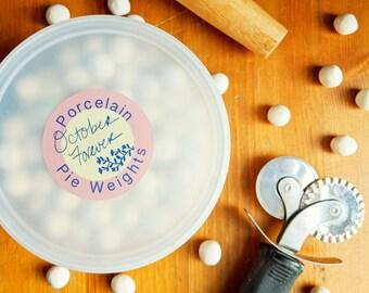 CERAMIC PIE WEIGHTS /// Pie Beads, Ceramic Weights, Pie Chain, Pie Crust Weights, Blind Baking Beads, Pie Beans, Crust Weights