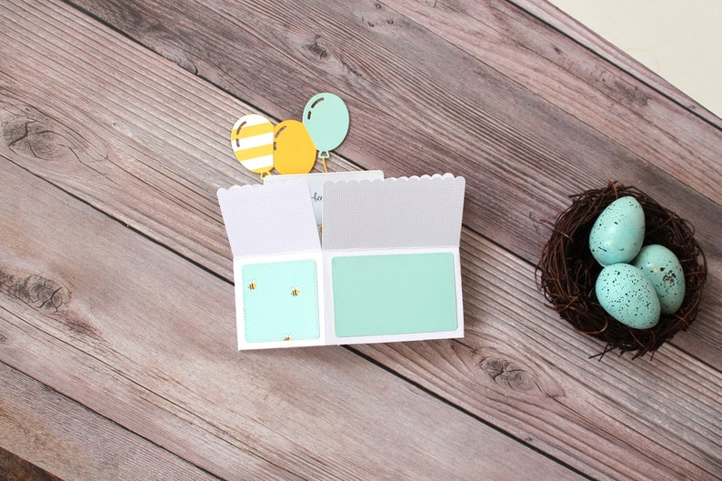 Bee Theme Free US Shipping Cupcake Present Hive Heart,Folds Flat for Mailing Happ-bee Birthday 3D Pop Up Birthday Card