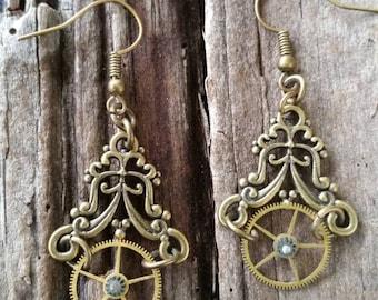Steampunk Filigree Earrings