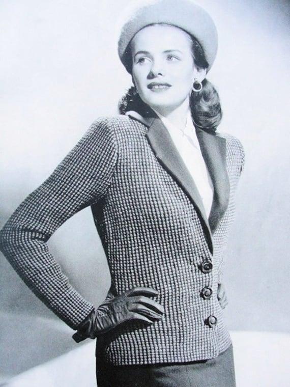 f8227b6c5df069 INSTANT PDF PATTERN Film Noir 1940s Vintage Knit Pattern