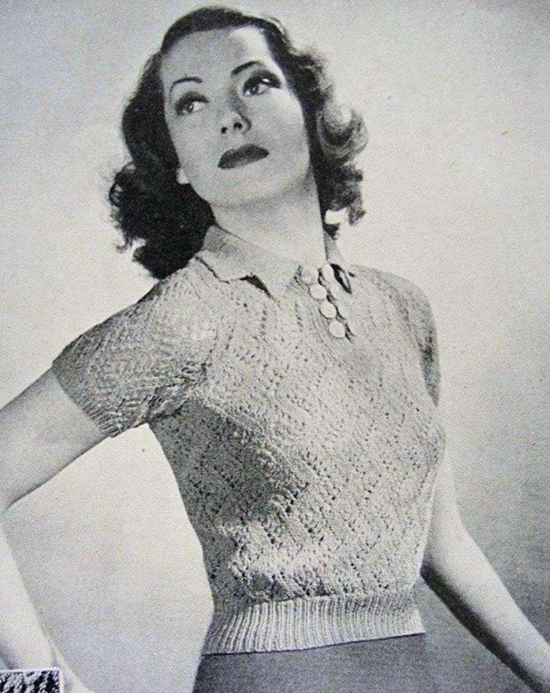 3c137142a5d0e4 INSTANT PDF PATTERN 1930s Vintage Knitting Pattern Lace Like