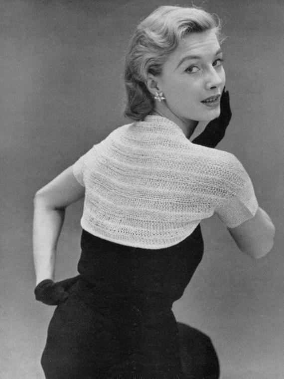 279fb82337eb10 INSTANT PDF PATTERN 1950s Vintage Knitting Pattern Glam