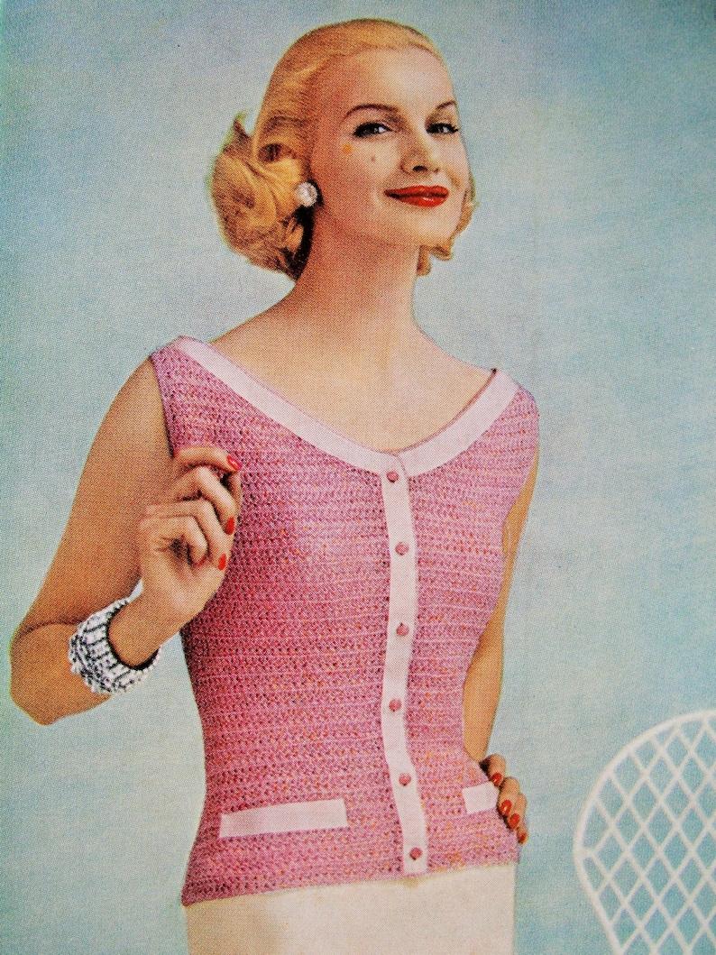 055e3b6324fc23 INSTANT PDF PATTERN 1950s Vintage Crochet Pattern Beautiful