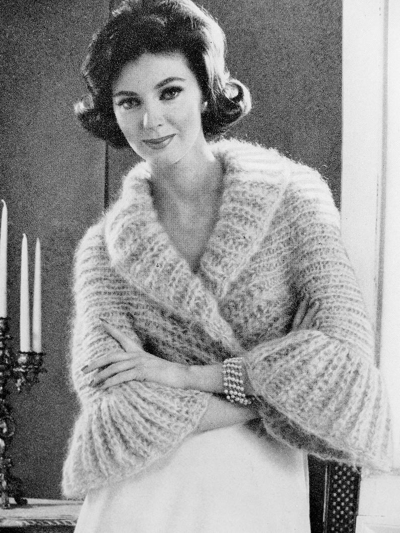 ea4be3dfa53bc5 INSTANT PDF PATTERN 1960s Vintage Knitting Pattern Shrug