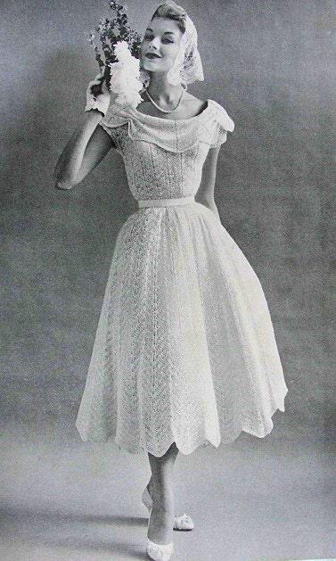 1950s Beautiful Romantic Informal Wedding Bridal Dress Party Etsy