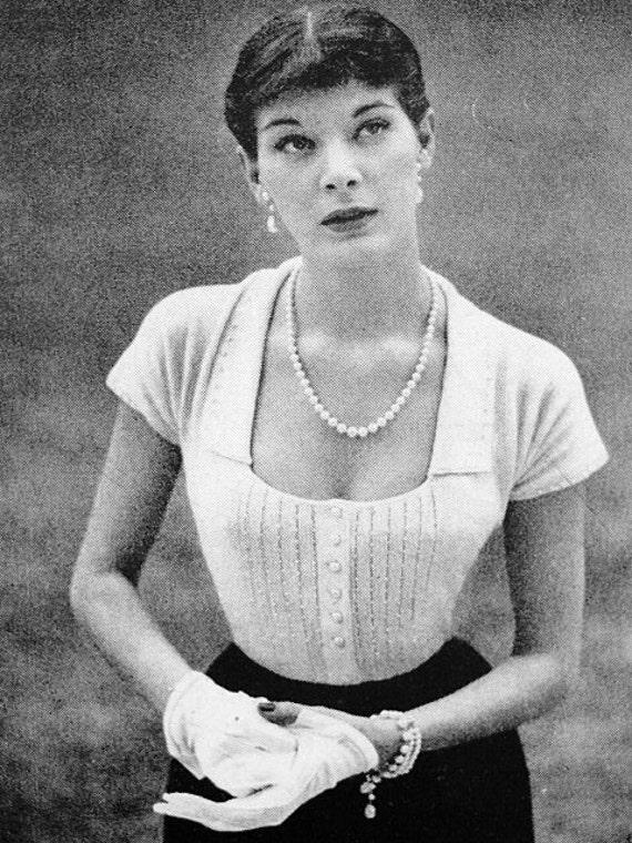 d8b55f3d9e0482 INSTANT PDF PATTERN 40s Vintage Knitting Crochet Pattern Glam