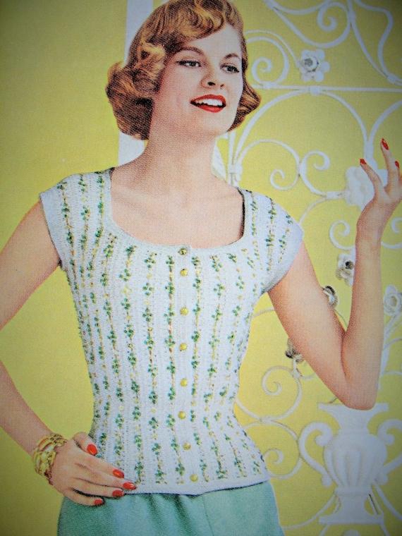 8d40d4cfa23852 INSTANT PDF PATTERN 1950s Vintage Crochet Pattern Lovely Lacy