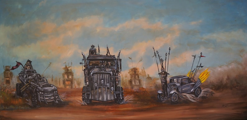 Fury Road. Print fits 11 x 17 in frame free shipping image 0