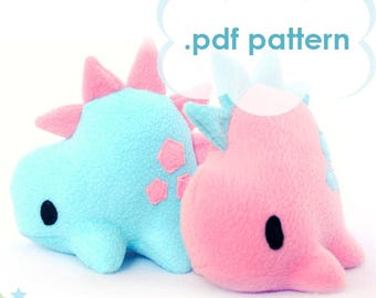 Dinosaur Plush Pattern - DIY Stegosaurus Digital Download Sewing Pattern
