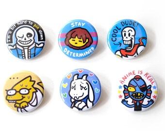 Undertale 6 Button Set