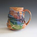 20 oz Unique coffee mug, handmade cup, handthrown mug, stoneware mug, wheel thrown pottery mug, ceramics and pottery