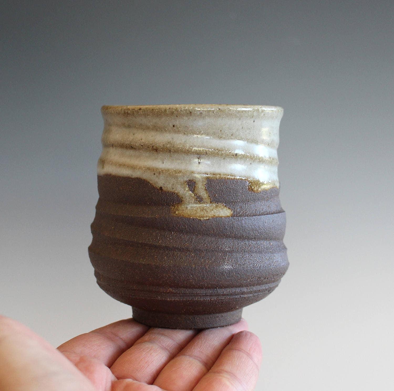 Yunomi Tea Cup Handmade Ceramic Tea Cup Pottery Cup Wheel