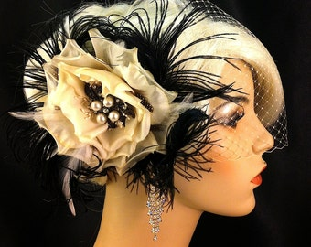 Bridal Fascinator Bridal Hair Fascinator Flower Fascinator Wedding Headpiece Bridal Hair Accessory Wedding Hair Fascinator Flower Hair Clip