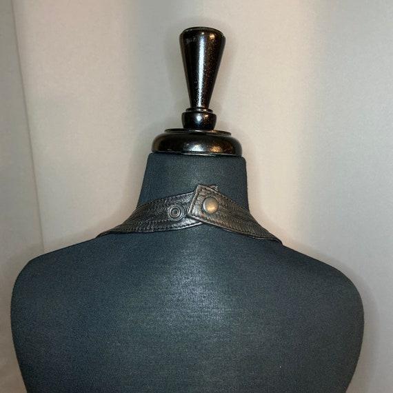 Vintage Leather Halter Top Vest Dominatrix Biker … - image 7