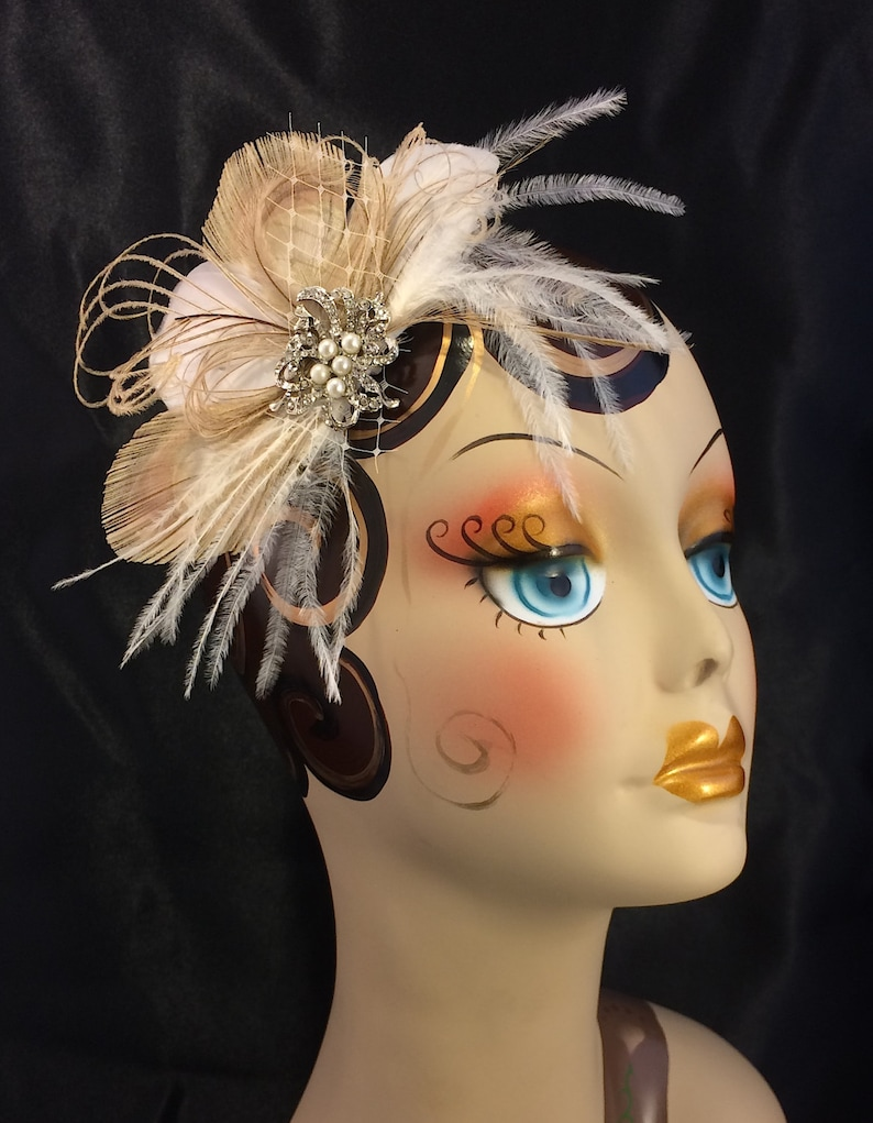Bridal Fascinator Fascinator Pearls Bridal Accessory Veil Wedding Headpiece Bridal Hair Piece Bridal Headpiece Wedding Fascinator