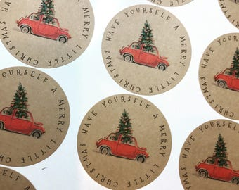 Have Yourself a Merry Little Christmas Round Labels  2.5 (2 Sheets of 12)