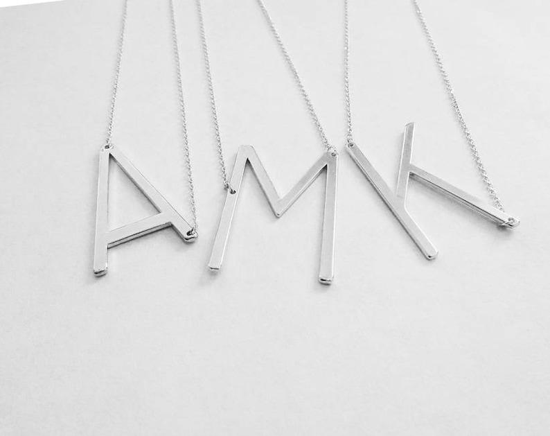 d2d1362d9e8b Large Letter Necklace Big Initial Necklace Monogram