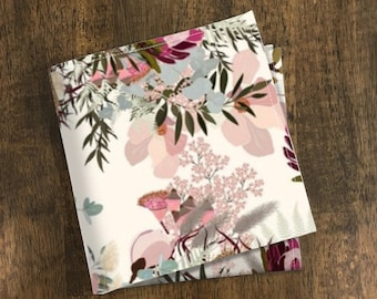 Pocket square Floral Pink Liberty of London  Blush Matching Hanky  Cotton Floral Men/'s handkerchief  Wedding Pocket Square SALE