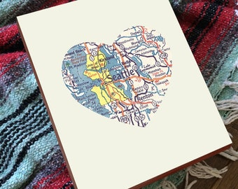 Custom Map Art - Custom City Maps - City Sign - Map Art - Map Guestbook - State Gifts - City Name Art