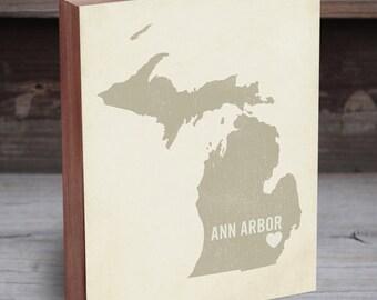 Ann Arbor Map - Ann Arbor Wall Art - Map of Ann Arbor - Ann Arbor Wall Art - Ann Arbor City Print