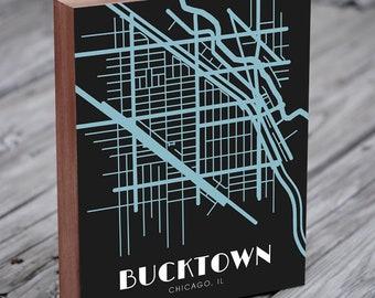 Bucktown Chicago Map Art