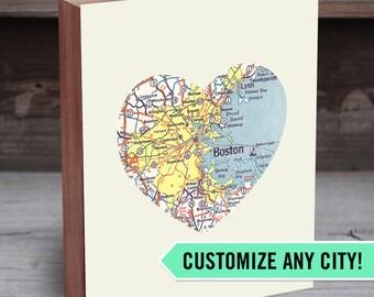 City Map Print - City Wall Art - Map Art - Custom Map Art - Custom Map on Wood - City Print Map - Map Decor