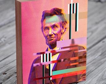 Abe Lincoln Print - Glitch Art - Abe Lincoln Gifts - Abraham Lincoln Art - Glitch Artwork - Abraham Lincoln Print