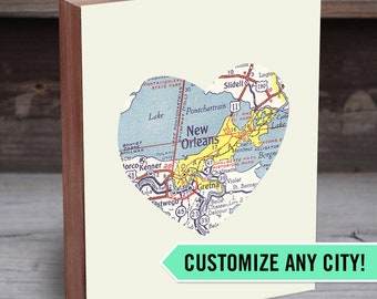 Map Heart - Custom Map Print - State Art Prints - City Decor - Custom City Prints - Map Print Wall Art - City Maps - City Prints