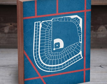 Wrigley Field Art - Wrigley Field Wall Art - Wrigley Field Print - Baseball Stadium Map - Wrigley Field Sign - Chicago Cubs Art