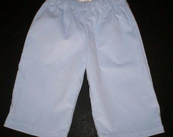 Blue Unisex Corduroy Pull On Pant - Sizes 9 Mo and 12 Mo